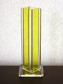 【ドロップ/レモン】アクリル・フラワーベース・花器花瓶・一輪挿し