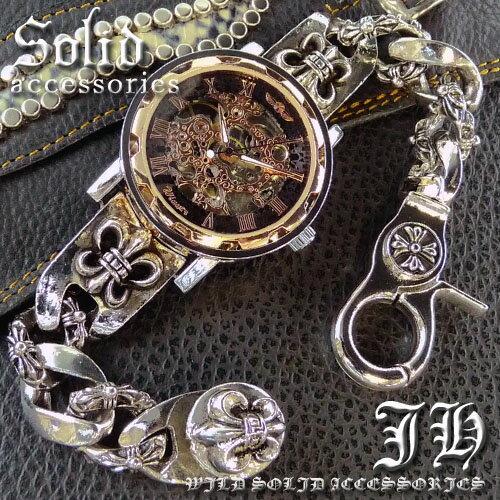 送料無料 超レア物 スケルトン 自動巻き腕時計 ブレスレットウォッチ メンズ ブレスレット 時計 かっこいい 男性 プレゼント ピンクゴールド cr 【ct49】【あす楽対応】