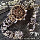 ■送料無料■超レア物■スケルトン 自動巻き腕時計■ ブレスレットウォッチ メンズ ブレスレット 時計 かっこいい 男…