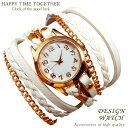 【全8種】 送料無料 ホワイト 白 ブレスレットウォッチ チェーン ゴールドcr レディース ブレスレット 時計 ブレス時…