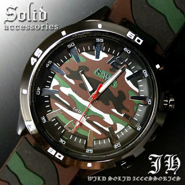 送料無料 腕時計 メンズ おしゃれ 迷彩 カモフラ 緑 白 アナログ カラフル 時計【あす楽 】 メンズ 腕時計 アクセone 腕時計 メンズ 腕時計 通販 楽天 【tvs259】[0012]