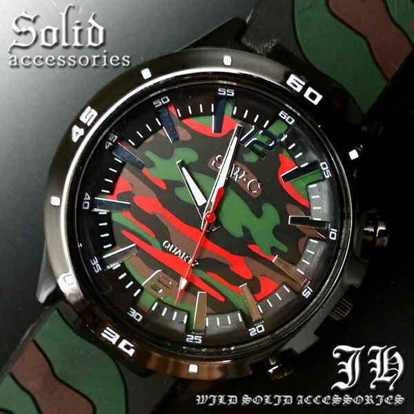 送料無料 腕時計 メンズ おしゃれ 迷彩 カモフラ 緑 赤 アナログ カラフル 時計【あす楽 】 メンズ 腕時計 アクセone 腕時計 メンズ 腕時計 通販 楽天 【tvs261】[0012]