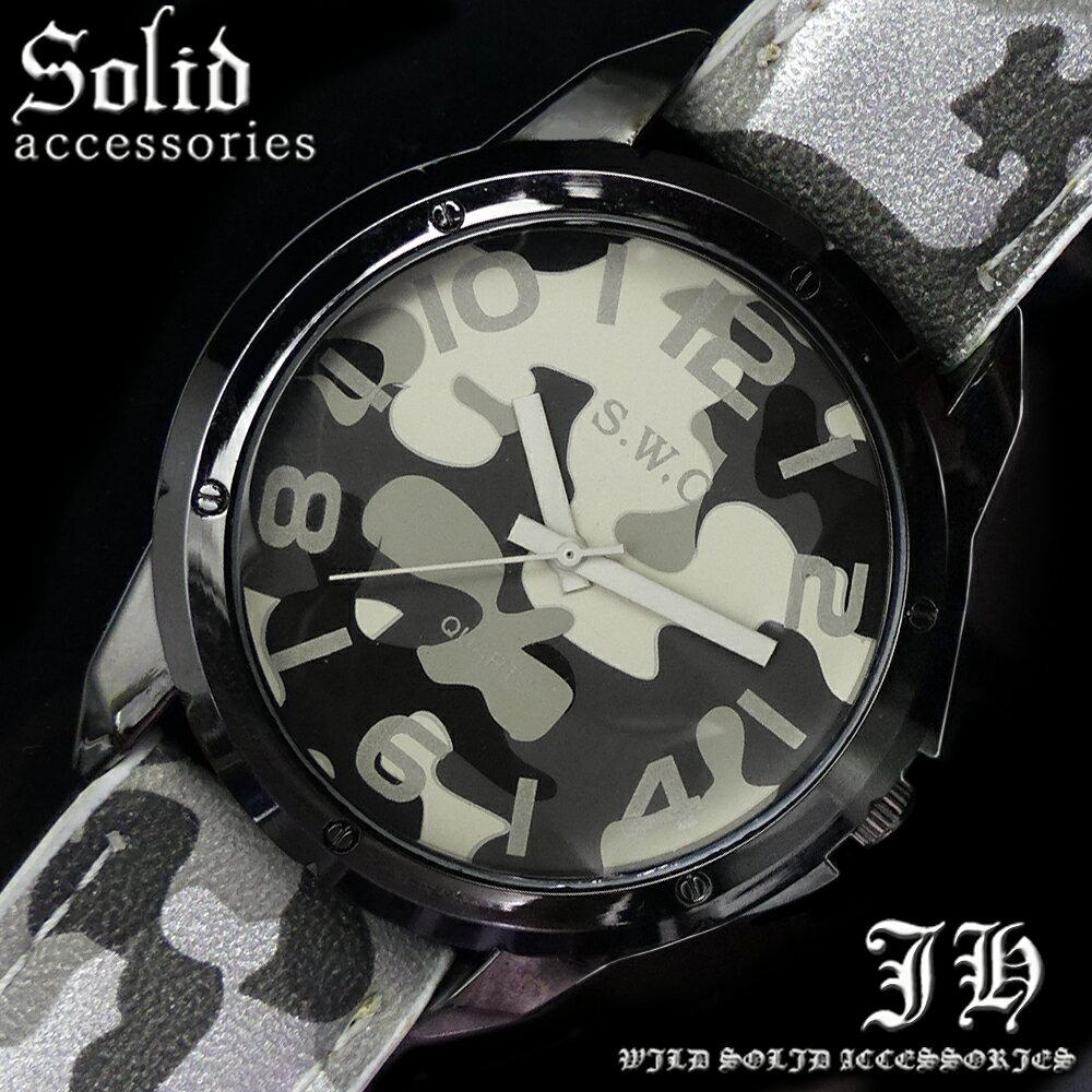 送料無料 腕時計 メンズ おしゃれ 迷彩 カモフラ グレー 灰色 アナログ カラフル 時計【あす楽 】 メンズ 腕時計 アクセone 腕時計 メンズ 腕時計 通販 楽天 【tvs325】[0012]