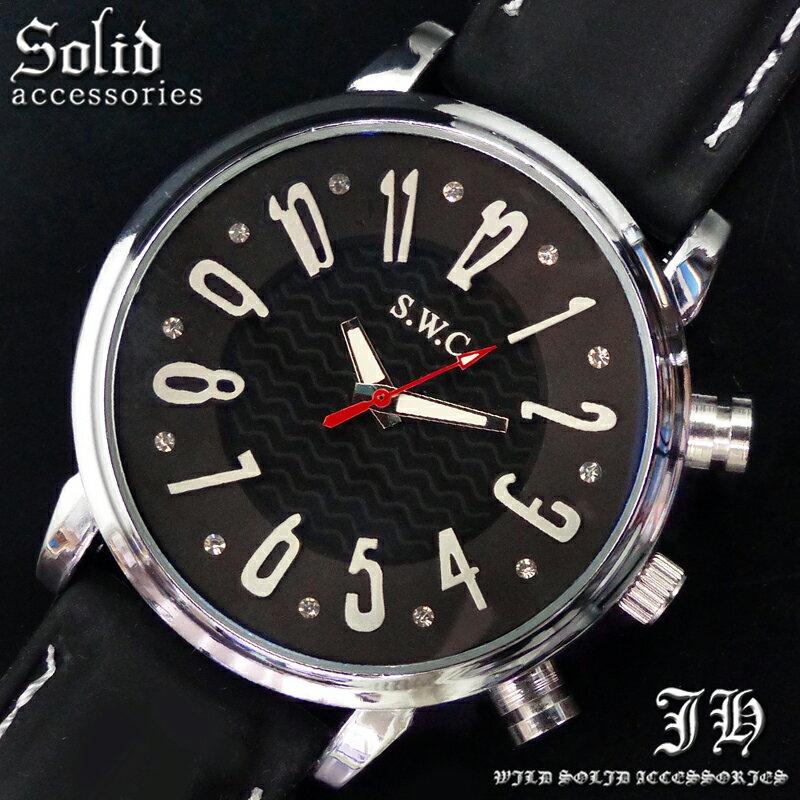 送料無料 腕時計 メンズ おしゃれ ラウンド ブラック 黒 シンプル アナログ カラフル 時計【あす楽 】 メンズ 腕時計 アクセone 腕時計 メンズ 腕時計 通販 楽天 【tvs352】[0012]