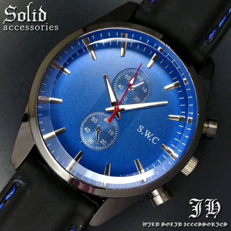 送料無料 腕時計 メンズ おしゃれ ラウンド ブルー 青 シンプル アナログ カラフル 時計【あす楽 】 メンズ 腕時計 アクセone 腕時計 メンズ 腕時計 通販 楽天 【tvs356】[0012]