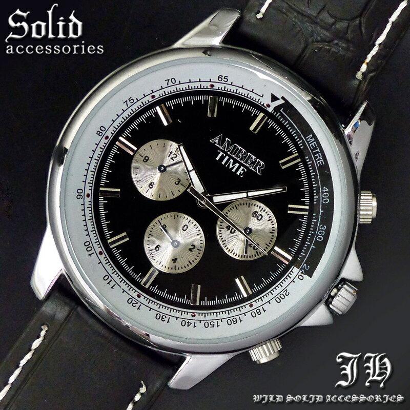 腕時計 メンズ おしゃれ ビジネス 黒 【あす楽対応】【tvs366-medama】