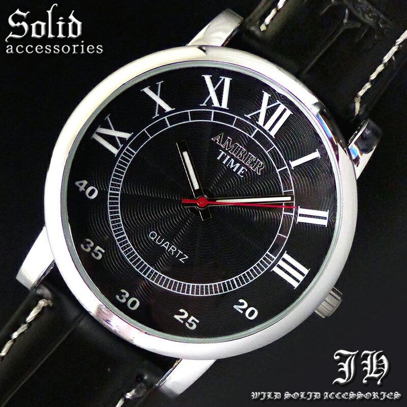 送料無料 腕時計 メンズ おしゃれ ラウンド ブラック 黒 ローマ数字 分表示 アナログ カラフル 時計【あす楽 】 メンズ 腕時計 アクセone 腕時計 メンズ 腕時計 通販 楽天 【tvs400】[0012]