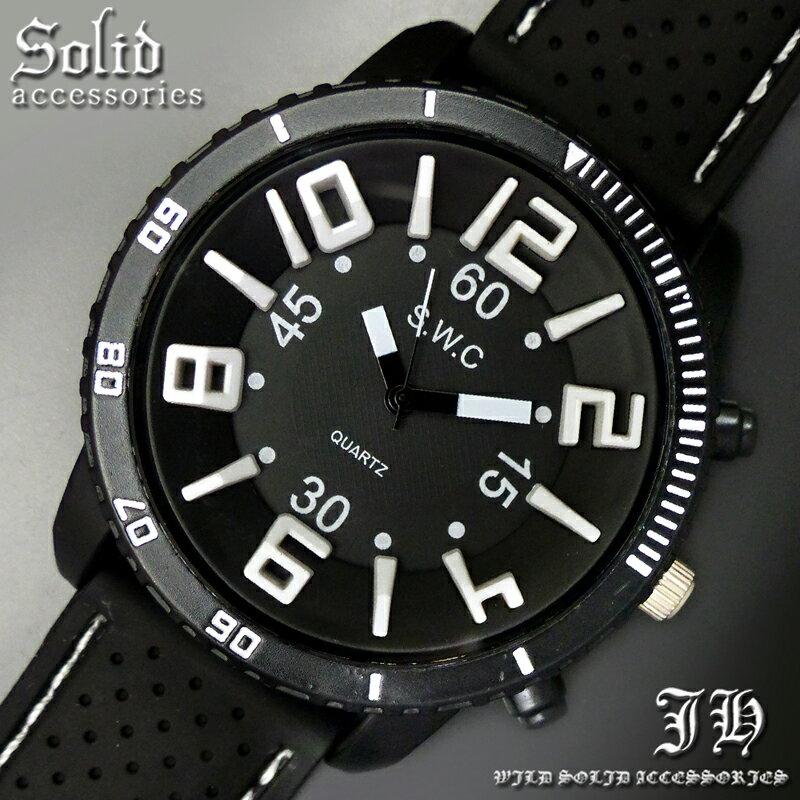 送料無料 腕時計 メンズ おしゃれ ラウンド ブラック 黒 ベゼル 分表示 黒縁 アナログ カラフル 時計 ビッグフェイス 【あす楽 】 メンズ 腕時計 アクセone 腕時計 メンズ 腕時計 通販 楽天 【tvs402】[0012]