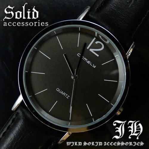 【tvs161】 送料無料 999円 超人気メンズ腕時計 スタイリッシュなデザイン 黒ブラック シンプル メンズ 腕時計 おしゃれ 【あす楽対応】