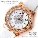 新作 送料無料 999円超お得 超人気レディース腕時計 かわいいデザイン フラワー花 ホワイト 白 お花 時計 【tvs216】…