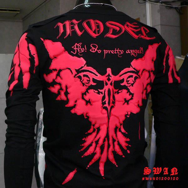 海外ブランド『MODEL』本物 ロンTシャツ送料無料 お兄系メンズエッグファン必見です 【f1 M L XL 3L】