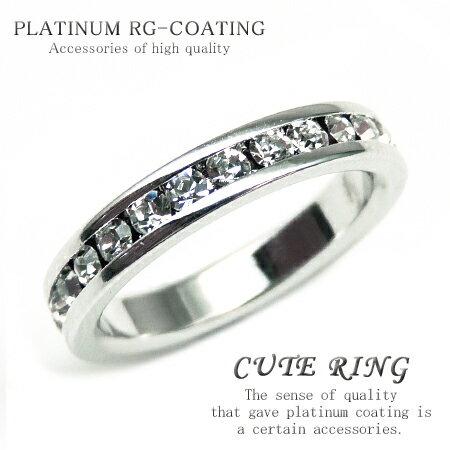 【kor292 3号 5号 7号 10号 12号 15号】 輝くCZダイヤ キュービック・ジルコニア かわいいピンキーリング 高級プラチナRG加工 パーティーや結婚式、プレゼントにも おしゃれ 指輪 ホワイトデー 【あす楽対応】
