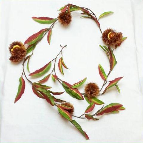 【造花・秋】クリガーランド 1.8m くり・栗 / ディスプレイ・アレンジ・素材 | 9734