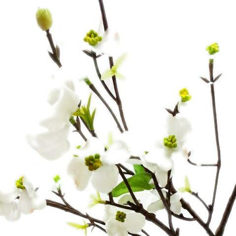 【造花・春】ヒメハナミズキスプレー / はなみずき 花水木 | P4647
