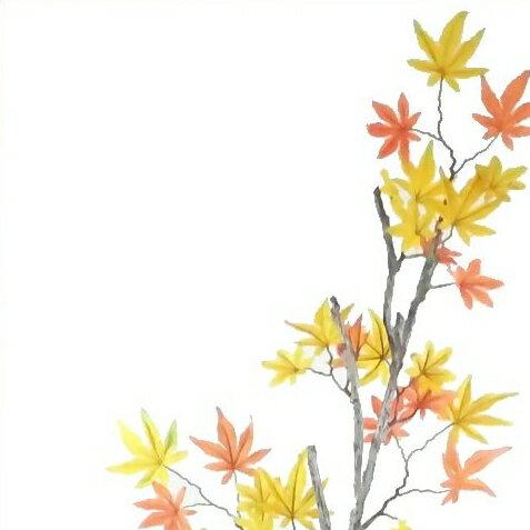 【造花・秋・紅葉】もみじ・イロハモミジ大 9714