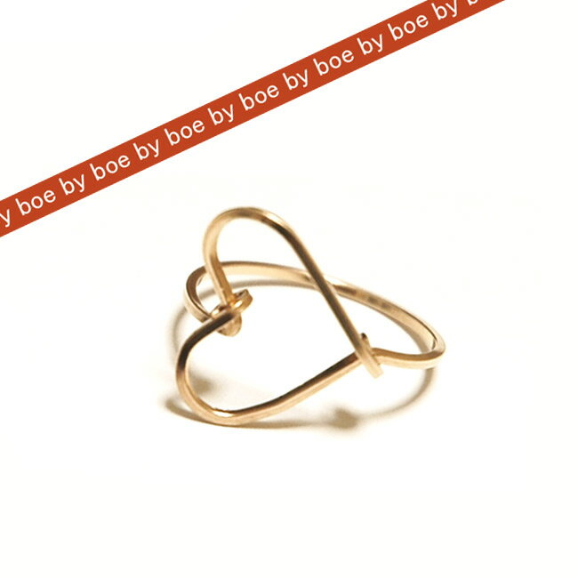 バイボー byboe ハート リング Heart Ring GOLD セレブ 愛用 05P03Dec16 レディース メール便 【楽ギフ_○○】【us】■