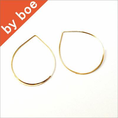 バイボー byboe ワイヤーフープ ピアス Wire Hoop Earring GOLD セレブ愛用 イニシャルネックレス も セレブ 愛用 05P03Dec16 レディース メール便 【楽ギフ_○○】【us】■