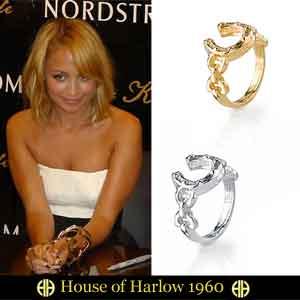 House of Harlow 1960【ハウスオブハーロウ1960】 horseshoe stack ring ホースシュー スタック リング 蹄鉄リング/馬蹄指輪 セレブ 愛用 05P03Dec16 レディース メール便 【楽ギフ_○○】【us】
