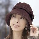 【送料無料】 耳あてボアのあったかキルト帽子 【防寒 耳当て 冬 暖かい ゴム ぼうし 長つば レディース】