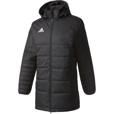 adidas アディダス 中綿ロングジャケット サッカー スポーツ ベンチコート nui59 BS0050 ブラック/ホワイト