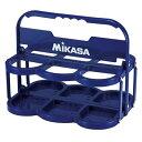 MIKASA ミカサ ウォーターボトルキャリー 折りたたみ式 6本入可 ブルー BC6 スクイズボトルケース ウォーターボトルケース