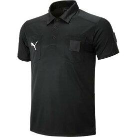 PUMA(プーマ) レフリーシャツ 01BLACK ブラック 半袖審判シャツ ウェア サッカー 656328 レフェリーシャツ