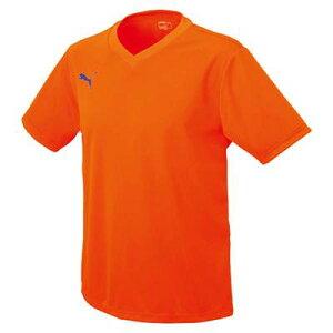 (背番号付き)PUMA プーマ 半袖 ゲームシャツ サッカーシャツ 90329 オレンジ 番号加工付 サッカー フットサル 1枚〜OK プレゼント ギフト