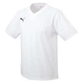 【あす楽】PUMA プーマ ゲームシャツ サッカーシャツ 半袖シャツ サッカー フットサル 903291 03 ホワイト/ブルー 白/青 Lサイズ プレゼント ギフト