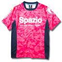SPAZIO スパッツィオ ロゴ プラクティスシャツ GE0312 ピンク フットサル サッカーユニフォーム 練習着 スパッ…