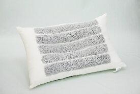 快眠 枕『トルマリンパイプ入』ポリエステル枕 マイナスイオンですっきり快眠!