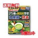 【送料無料】日本薬健 金の青汁 25種の純国産野菜 乳酸菌×酵素 3.5g×60包 5個セット