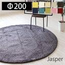 ラグ ラグマット カーペット 絨毯 日本製 手洗い可 お掃除ロボット使用可 床暖房対応 滑り止め加工 シンプル 丸型 円 200 200R 人気 プレーベル ジャスパー jasper ロングセラー リ
