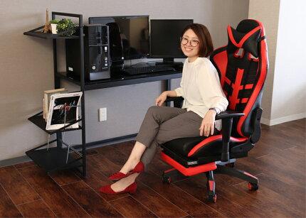 ゲーミングチェア,オフィスチェア,疲れにくい,パソコンチェア,デスクチェアおしゃれ,デスクチェア,オフィスチェア,チェアパソコン,パソコンチェア,事務椅子,高機能,ロッキング機能,レッド,グレー