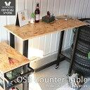 [11/30限定P10倍!※条件付] テーブル カウンターテーブル 高さ90cm おしゃれ キャスター付き キャスター 作業台 ハイテーブル バーカウンターテーブル バーテーブル スチール シンプル