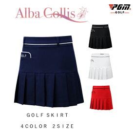 ゴルフウェア レディース ゴルフスカート スカート 無地 BLACK 黒 ブラック 白 ホワイト ネイビー 紺 赤 レッド インナーパンツ付 全4色 M L XL おしゃれ インナーパンツ一体型 M L