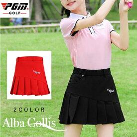ジュニア ゴルフスカート レディース ゴルフスカート スカート 無地 レッド 赤 ブラック 黒 M L XL おしゃれ M L ゴルフウェア 可愛い 女の子