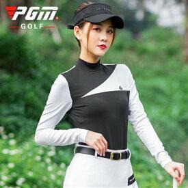 ゴルフウェア レディース ゴルフシャツ ロング袖 ロングシャツ 白 ホワイト 黒 ブラック おしゃれ S M L XL シンプル 長袖