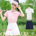 ゴルフウェア ジュニア キッズ 女の子 ガール 子供 ポロシャツ 袖 半袖 スカート レディース 可愛い 綺麗 レディース …