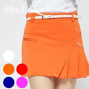 ゴルフウェア レディース ゴルフスカート スカート 無地 ネイビー 紺 ピンク 白 ホワイト レッド 赤 オレンジ インナーパンツ付 全5色 おしゃれ インナーパンツ一体型 S M L XL ゴルフグッズ