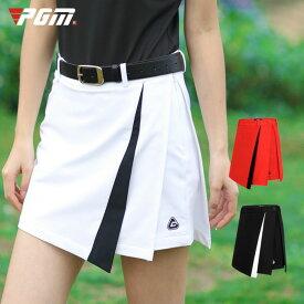ゴルフウェア レディース スカート ゴルフスカート パンツ一体型 パンツ 無地 ホワイト 白 レッド 赤 黒 ブラック M L XL おしゃれ 可愛い 綺麗 シンプル