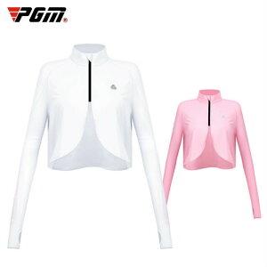 ゴルフ レディース ボレロ アームカバー ゴルフウェア ゴルフシャツ アウター WHITE 白 PINK ピンク おしゃれ 無地 シンプル