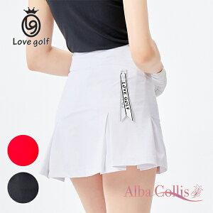 ゴルフスカート 可愛い ボックスプリーツ 赤 レッド 黒 ブラック 白 ホワイト ゴルフ レディース ゴルフウェア 女子ゴルフ レディス かわいい おしゃれ プリーツ