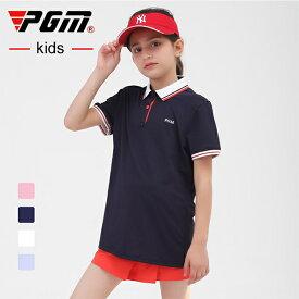 ゴルフジュニアポロシャツ ゴルフウェア ジュニア ポロシャツ シャツ キッズ 女の子 ガール 子供 袖 半袖 レディース 可愛い 綺麗 レディース ゴルフグッズ レディースゴルフウェア ゴルフ用品 可愛い ピンク ネイビー ホワイト ブルー 紺 白 青