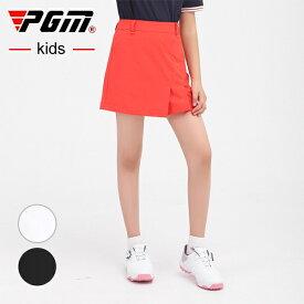 ジュニア ゴルフスカート レディース ゴルフスカート スカート 無地 レッド 赤 ブラック 黒 ホワイト 白 S MLXL おしゃれ シンプツゴルフウェア 可愛い 女の子