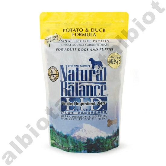 ナチュラルバランス ポテト&ダック スモールバイツ 1kg (犬用 ドッグフード 小粒)