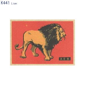 アーティストのイラストがプリントされたポストカードLion (K441)(メール便(ネコポス)発送OK)
