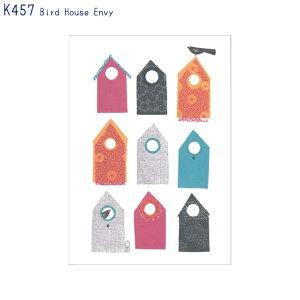 アーティストのイラストがプリントされたポストカードBird House Envy (K457)(メール便(ネコポス)発送OK)