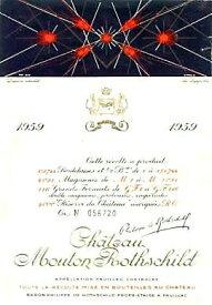1959 シャトウムートンロートシルドMouton Rothschild