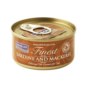 【FISH4CATS】フィッシュ4キャット缶詰「イワシ&サバ」SARDINE AND MACKEREL バラ(70g)○
