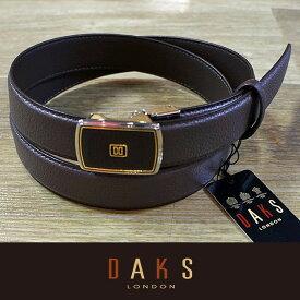 (父の日 ギフト)DAKS ダックス ベルト バックル式 スライド式 牛革 DB20950-02 日本製(ラッピング無料)
